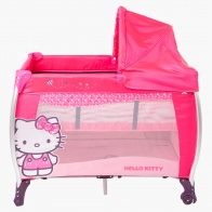 Hello Kitty Travel Cot with Zipper Bed and Canopy