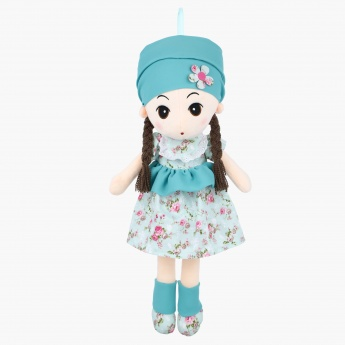 Floral Print Rag Doll with Bandana