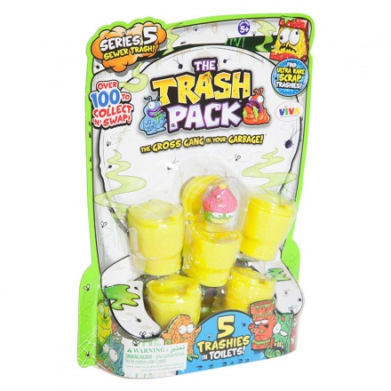 Trash Pack Series 5 Trashies in Toilets - Set of 5