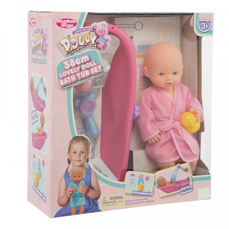 Content Doll Bath Tub Set