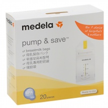 Medela Pump & Save Breastmilk Bags - Set of 20