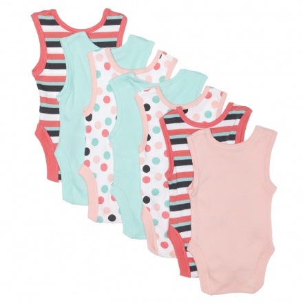 Juniors Printed Bodysuits - Set of 7