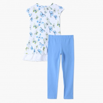 Juniors Top and Leggings Set