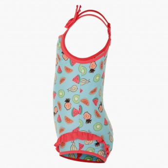 Juniors Printed Swimsuit