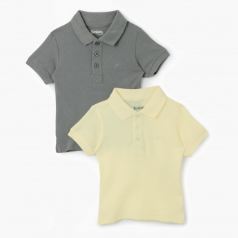 Juniors Solid Colour T-Shirt - Set of 2