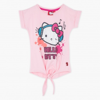 Hello Kitty Printed Tie-up Top