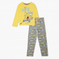 Spongebob Printed T-Shirt and Pants Set