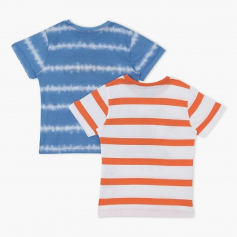 Juniors Printed Round Neck T-Shirt - Set of 2