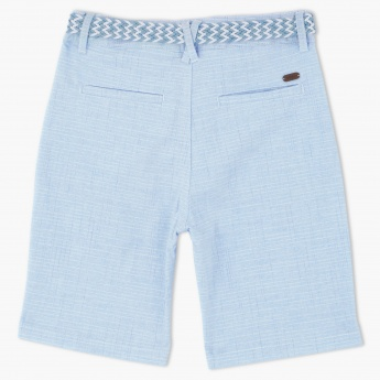 Eligo Textured Shorts with Belt