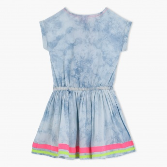 Juniors Embroidered Dress with Drawstrings