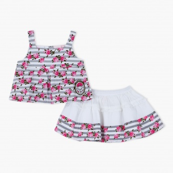 Marie Printed Top and Skirt Set