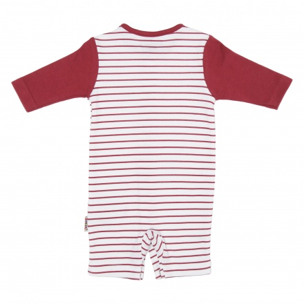 Juniors Striped Romper